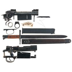 Two Bolt Action Rifles Receivers and Other Items -A) Savage Bolt Action Rifle Receiver