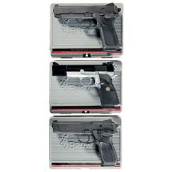 Three Cased Browning Semi-Automatic Pistols -A) Browning BDM Semi-Automatic Pistol