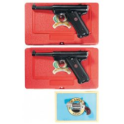 Three Handguns -A) Ruger MKII 50th Anniversary Semi-Automatic Pistol with Case