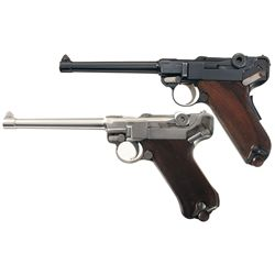Two Luger Pistols -A) Mauser/Interarms American Eagle Luger Semi-Automatic Pistol