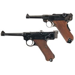 Two Luger Pistols -A) Mauser/Interarms Luger Semi-Automatic Pistol