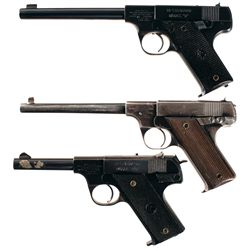 Three Semi-Automatic .22 Pistols -A) High Standard Model B Semi-Automatic Pistol