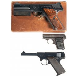 Three Semi-Automatic Pistols -A) Colt Woodsman Match Target Second Series Semi-Automatic Pistol with
