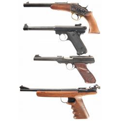 Four Pistols -A) Uberti Rolling Block Single Shot Pistol