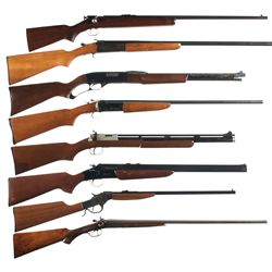 Seven Long Guns and One Air Rifle -A) Winchester Model 67 Single Shot Rifle