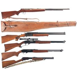 Five Long Guns -A) Remington Model 550-1 Semi-Automatic Rifle with Leather Case