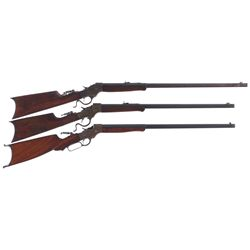 Three Stevens Single Shot Rifles -A) Stevens Model Ideal 44 1/2 Single Shot Rifle