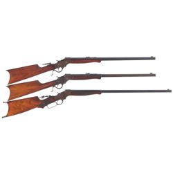 Three Stevens Single Shot Rifles -A) Stevens Ideal No. 44 Rifle