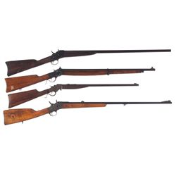 One Shotgun and Three Single Shot Rifles -A) Remington Rolling Block Shotgun