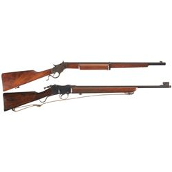 Two Single Shot Rifles -A) Stevens 414 Armory Single Shot Rifle