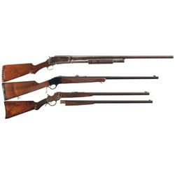 Three Long Guns -A) Marlin Model 19-S Slide Action Shotgun