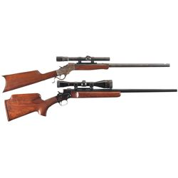 Two Scoped Varmint Rifles -A) Stevens Ideal Single Shot Rifle