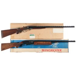 Two Boxed Shotguns -A) Marlin Reproduction L.C. Smith Field Grade Side by Side Shotgun