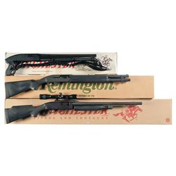 Three Boxed Slide Action Shotguns -A) Winchester Model 1300 Defender Slide Action Shotgun