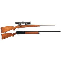 One Rifle and One Shotgun -A) Custom Springfield Model 1903 Rifle with Scope