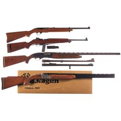 Two Carbines and Two Shotguns -A) Ruger Model 44 Semi-Automatic Carbine