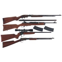 Four Rifles -A) Savage Arms Model 29 Slide Action Rifle