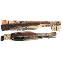 Two U.S. WWII Longarms -A) U.S. Springfield M1 Garand Semi-Automatic Rifle with Accessories