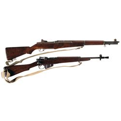 One Rifle and One Carbine -A) U.S. Springfield M1 Garand Semi-Automatic Rifle