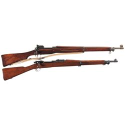 Two U.S. Bolt Action Rifles -A) U.S. Eddystone Model 1917 Bolt Action Rifle