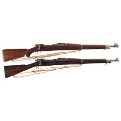 Two U.S. Military Bolt Action Rifles -A) Springfield Model 1903 Bolt Action Rifle with Sling and Muz
