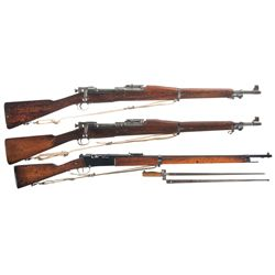 Three Military Bolt Action Rifles -A) Rock Island Arsenal Model 1903 Bolt Action Rifle