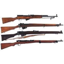 Four Rifles -A) Russian SKS Semi-Automatic Rifle with Folding Bayonet