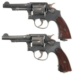 Two Smith & Wesson Victory Model Double Action Revolvers -A) Smith & Wesson Navy Marked Victory Doub