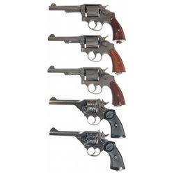 Five Double Action Revolvers -A) U.S. Property Marked Smith & Wesson Double Action Revolver