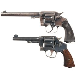 Two Double Action Revolvers -A) Colt New Service Double Action Revolver