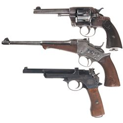 Three Hand Guns -A) Argentine Colt Double Action Revolver