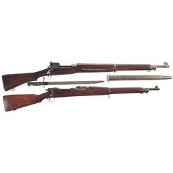 Two U.S. Bolt Action Rifles -A) U.S. Winchester Model 1917 Bolt Action Rifle with Bayonet