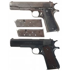 Two Argentinean Model 1927 Semi-Automatic Pistols -A) Sistema Colt Argentina Model 1927 Semi Automat