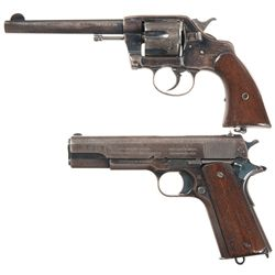 Two U.S. Military Handguns -A) U.S. Army Colt Model 1896 Double Action Revolver