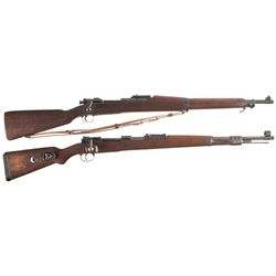 Two Military Bolt Action Rifles -A) U.S. Rock Island Arsenal Model 1903 Bolt Action Rifle