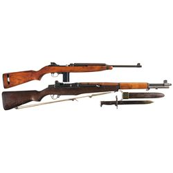 Two Long Guns -A) Early U.S. Winchester M1 Semi-Automatic Carbine
