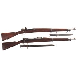 Two U.S. Bolt Action Rifles -A) U.S. Remington Model 1903 A3 Bolt Action Rifle with Bayonet