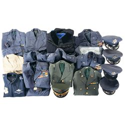 Large Grouping of Military Dress Uniforms