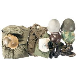 U.S. Field Gear and Helmets