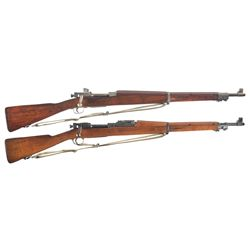 Two Model 1903 Bolt Action Rifles -A) Remington Model 03-A3 Bolt Action Rifle