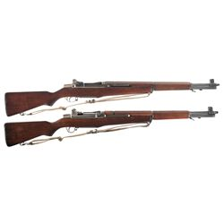 Two M1 Garand Semi-Automatic Rifles -A) U.S. Winchester M1 Garand Semi-Automatic Rifle