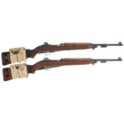 Two U.S. M1 Semi-Automatic Carbines -A) U.S. IBM Semi-Automatic M-1 Carbine with Extra Magazine and