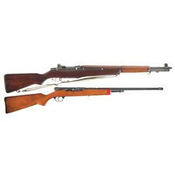 Two Semi-Automatic Rifles -A) U.S. Springfield M1 Garand Semi-Automatic Rifle with Sling
