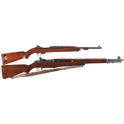 Two U.S. Longarms -A) Underwood M-1 Semi-Automatic Carbine