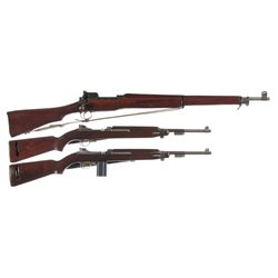 Three U.S. Longarms -A) Eddystone Model 1917 Bolt Action Rifle