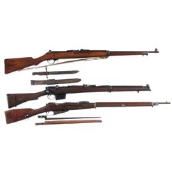 Three Military Bolt Action Longarms -A) Ross Model 1905 Mark I Straight Pull Bolt Action Rifle with