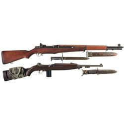 Two U.S. Semi-Automatic Longarms -A) Springfield M1 Garand Semi-Automatic Rifle with Bayonet