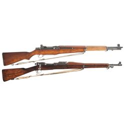 Two U.S. Rifles -A) U.S. Springfield M1 Garand Semi-Automatic Rifle