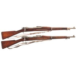 Two U.S. Bolt Action Military Rifles -A) Springfield Model 1903 Bolt Action Rifle with Sling