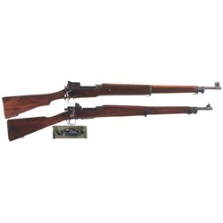 Two Military Bolt Action Rifles -A) Remington Model 1917 Bolt Action Rifle